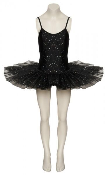 schwarz funkelnde pailletten swan halloween ballett maskenkost m tutu outfit ebay. Black Bedroom Furniture Sets. Home Design Ideas