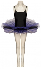 64fac59fc Black And Purple Two Tone Dance Ballet Leotard Tutu Childs And Ladies Sizes