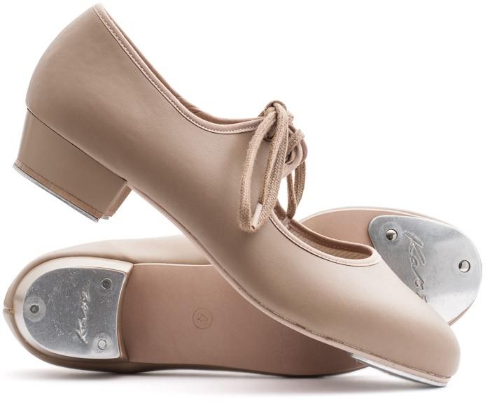 Girls Ladies Red PU Low Heel Tap Dance Shoes All Sizes By Katz Dancewear