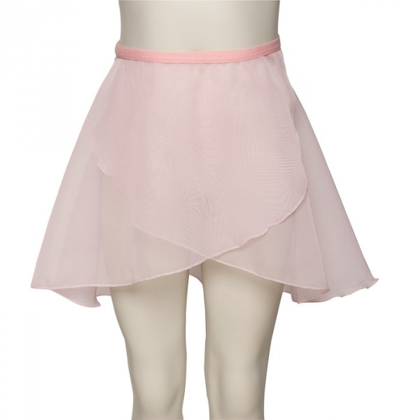 "20-24/"" WAIST GIRLS CHILDREN/'S PALE PINK SATIN WRAP AROUND DANCE BALLET SKIRT"