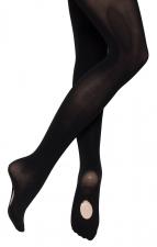 55a7b416bf50b Girls Ladies 60 Denier Black Convertible Ballet Dance Tights All Sizes