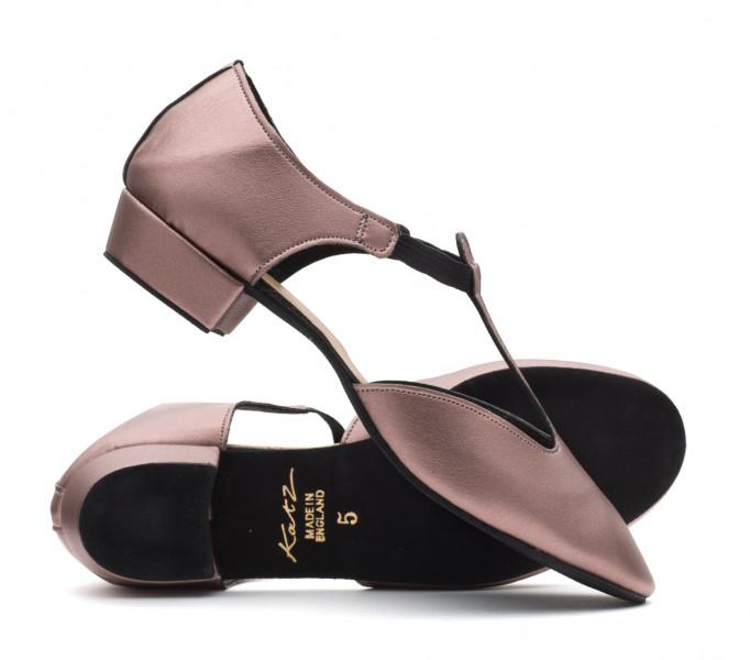 Ladies Girls Gold Metallic Cuban Heel Dance Greek Sandal Ballroom Shoe By Katz