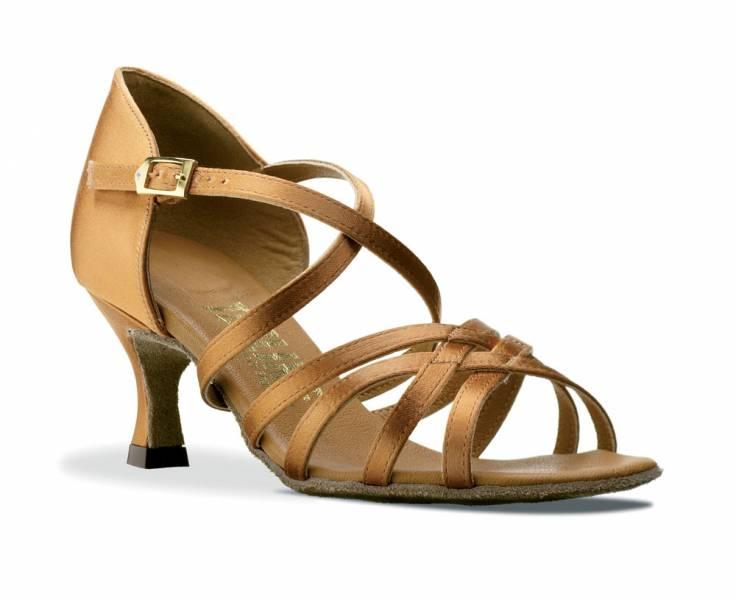 Ladies Tan Or Black Latin Ballroom Dance Shoes By Topline Katz ANNA T-BAR