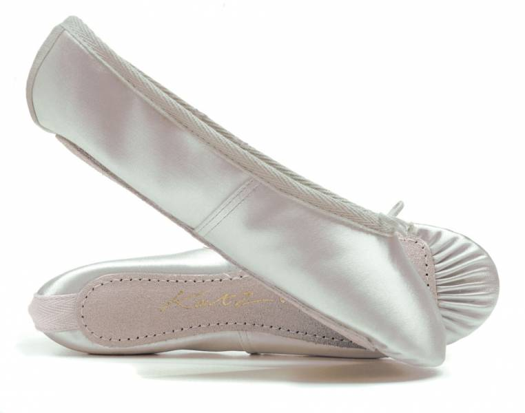 Ivory Satin Rubber Full Sole Ballet Shoes Childs /& Adults All Sizes By Katz