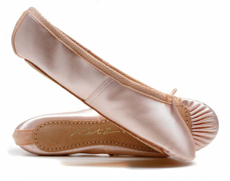 57104a3771e1 Pink Satin WIDE FIT Full Sole Ballet Shoes All Sizes