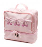 9dccf6abe4e Girls Pink Satin Ballet Ballerina Shoe Dance Hand Bag KB37
