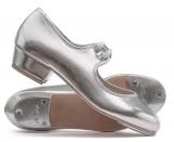 Katz Dancewear Girls Ladies Tan Nude PU Low Heel Tap Dance Shoes with Tap Plates