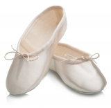 White Leather Wide Fit Full Sole Ballet Shoes All Sizes By Katz Dancewear